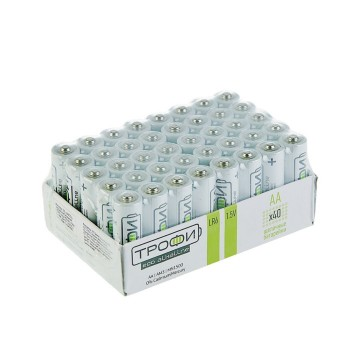 "Батарейка алкалиновая ""Трофи"" Eco, AA, LR6-40BOX, 1.5В, набор 40 шт."
