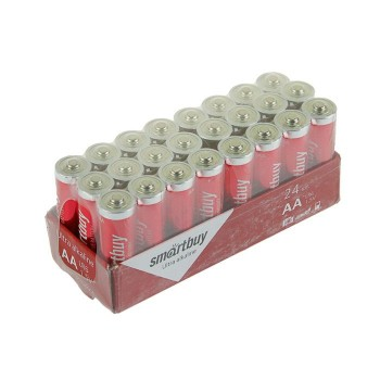 Батарейка алкалиновая Smartbuy Ultra, AA, LR6-24BOX, 1.5В, набор 24 шт.