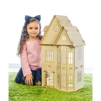 """Кукольный домик """"Лайт"""" фанера: 3 мм"""