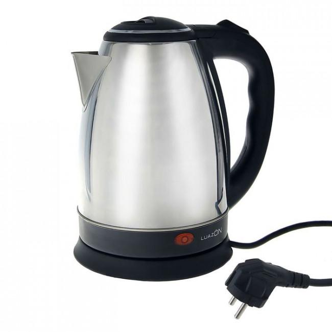 Чайник электрический LuazON LSK-1801, 1500 Вт, 1.8 л, металл, серебристый