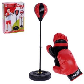 Набор для бокса «Профи»: напольная груша, перчатки