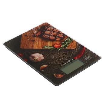 """Весы кухонные LuazON LVK-705, электронные, до 7 кг, подсветка, рисунок """"Стейк"""""""