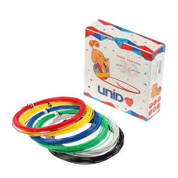 Пластик UNID ABS-6, для 3Д ручки, 6 цветов в наборе, по 10 метров