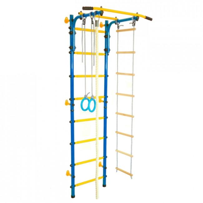 Детский спортивный комплекс «Юный АТЛЕТ Пристенный», цвет синий