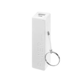 Внешний аккумулятор LuazON, 2200 мАч, USB, 1 А, крепление кольцо, белый