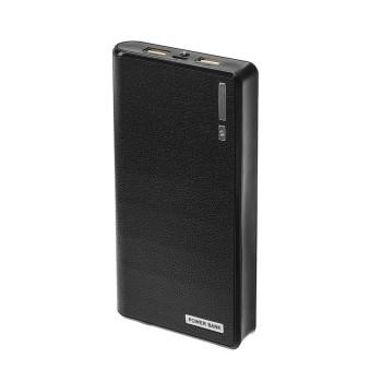 Внешний аккумулятор LuazON, 7200 мАч, 2 USB, 1/2.1 А, фонарик, чёрный